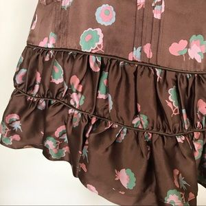 Marc Jacobs Skirts - Marc Jacobs Floral Silk Ruffle Skirt 8